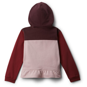 Columbia Columbia Park Sweat À Capuche Fille, mineral pink/marsala red/malbec